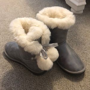 Silver Fur Boots